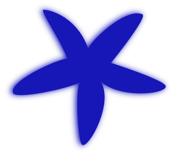 Blue Starfish Clip Art at Clker.com - vector clip art online, royalty ...