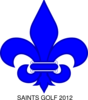 Royal Blue Fleur De Lis Saints Golf Clip Art