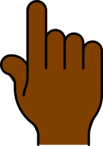 Hand Pointing African Clip Art