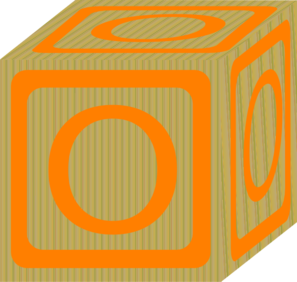 Children S Block Orange O Clip Art