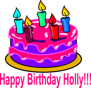 Happy Bday Holly Clip Art
