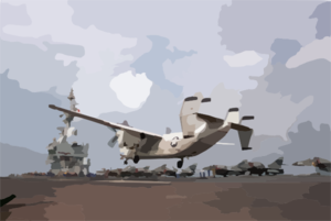 French Carrier - U.s. C-2 Landing Clip Art