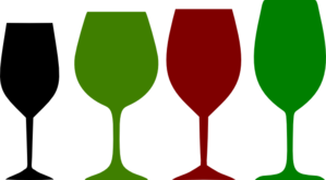 Red And Green Wine Glasses Clip Art