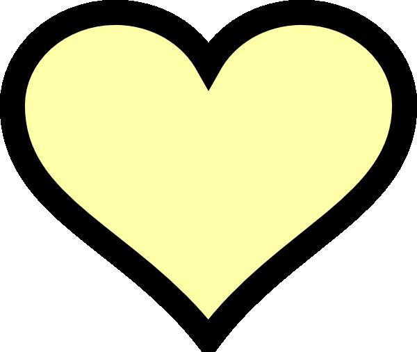 clip art yellow heart - photo #34