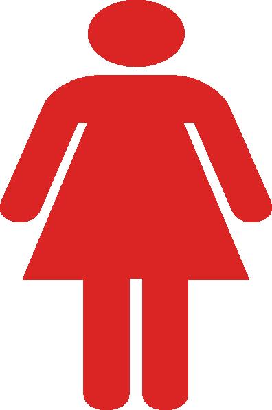 Ladies Bathroom: Ladies Bathroom Symbol Red Clip Art At Clker.com