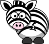 Zebra - Looking Back Clip Art