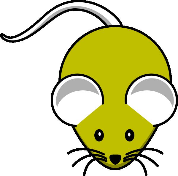 Cartoon Mouse Face Gray yellow mouse clip art