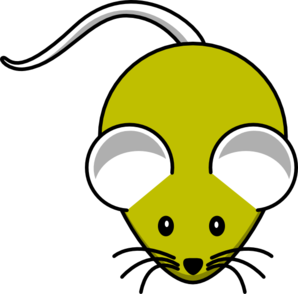 Gray Yellow Mouse Clip Art