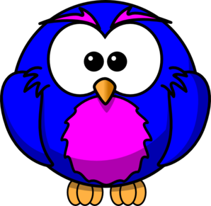 Blue And Purple Hoot  Clip Art