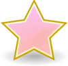 Baby Pink Star Clip Art