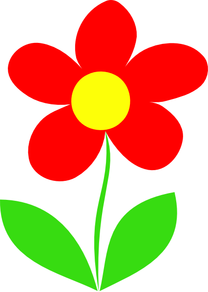 Clipart Flower With Stem Red flower stem clip art
