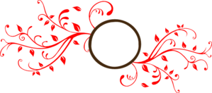 Monogram Brown And Red Clip Art