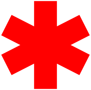 Red Star Of Life Clip Art