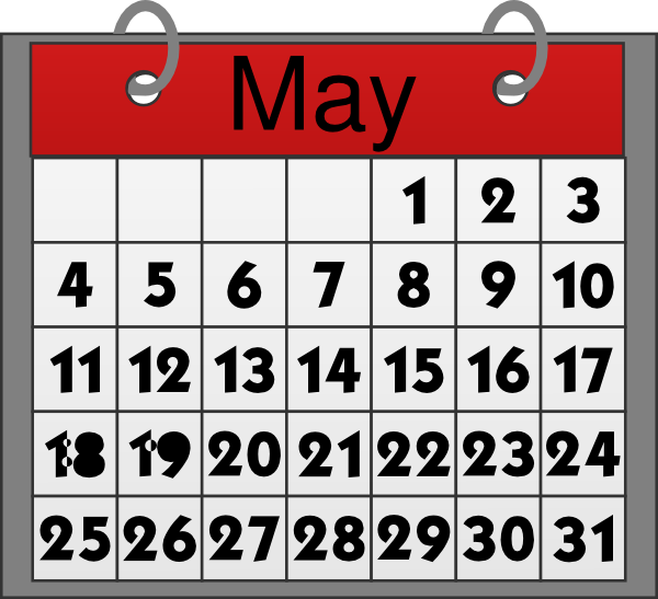May Calendar Clip Art at Clker.com - vector clip art ...