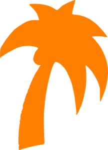 Palm Tree Orange Clip Art