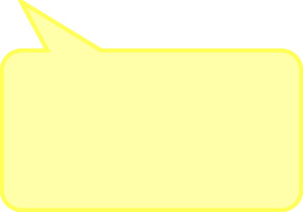 Yellow Rectangle Clip Art Dialog Bubble Rectangl...
