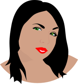 Green Eye Woman Clip Art