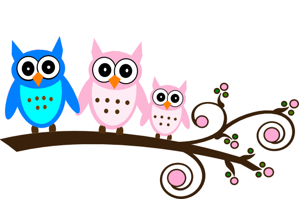 parents pink owl on branch clip art at clker com vector free clipart of owl tutoring free clip art of owls in graduation cap