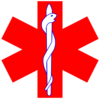 Red Paramedic Logo - Simple Clip Art