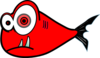 Red Fish Black Test Clip Art