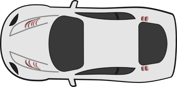 white car top view heading west clip art at clkercom