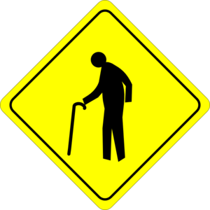 Old Person Crossing Sign Clip Art at Clker.com - vector ...