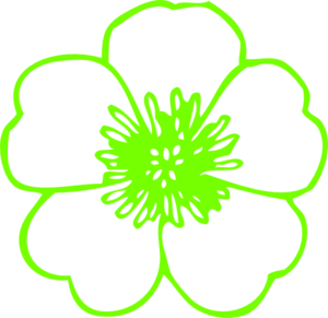 Lime Green Buttercup Clip Art