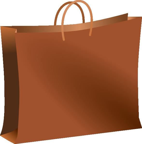 Brown Shopping Bag Clip Art at Clker.com - vector clip art online ...