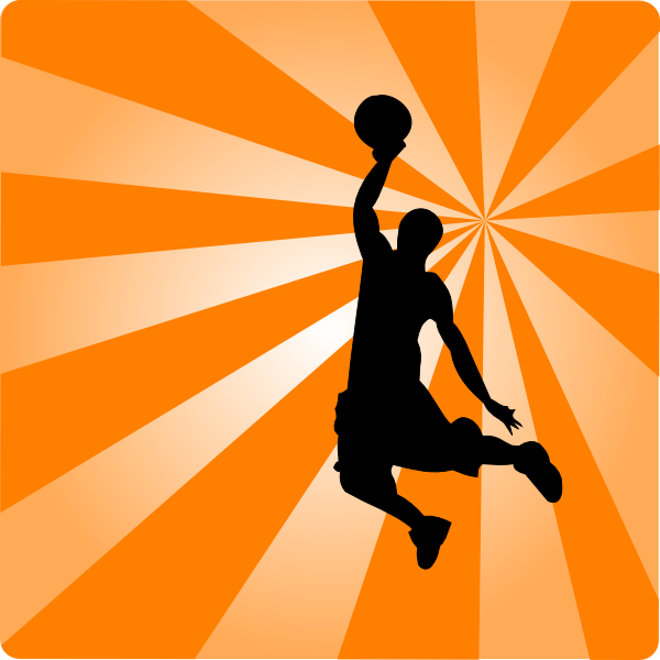 basketball orange silhouette clip art at clker com vector clip art rh clker com  basketball border clip art free