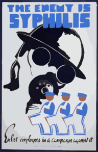 The Enemy Is Syphilis Enlist Employees In A Campaign Against It. Clip Art