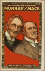 America S Representative Comedians, Murray And Mack Creators Of The Laughing Habit. Clip Art
