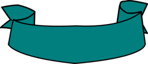 Teal Banner Curved Clip Art