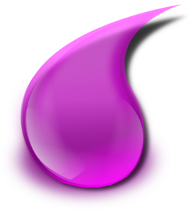 Purple Drop Clip Art