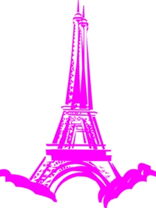 Pink In Paris Clip Art