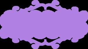 Purple banner. Clip art at clker