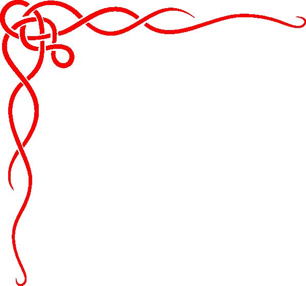 Red Scroll Ribbon Border Clip Art At Clker Com Vector