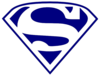 Wildcats Superman Logo(navy Only) Clip Art