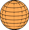 Orange Globe Clip Art