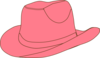 Pink Cowgirl Hat Clip Art