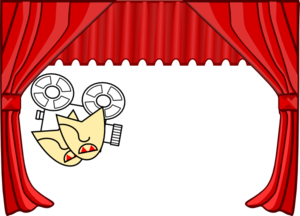 Red Curtains Clip Art