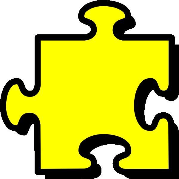 Yellow Puzzle Piece Clip Art at Clker.com - vector clip art online