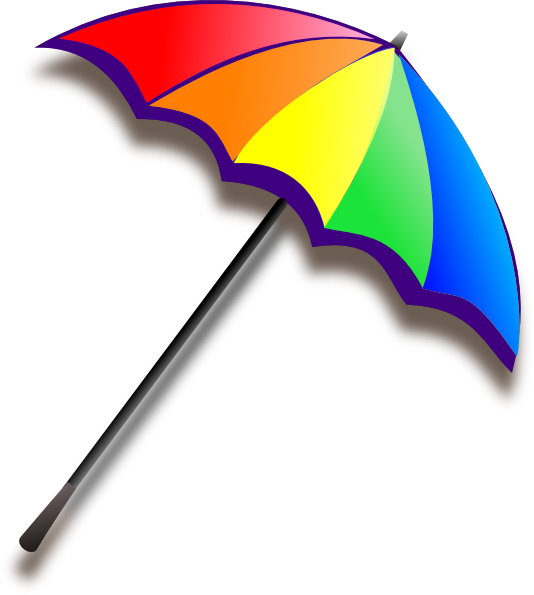 rainbow umbrella clip art - photo #1
