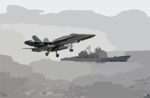 An F/a-18 Hornet Assigned To The Vigilantes Of Strike Fighter Squadron One Five One (vfa-151) Clip Art