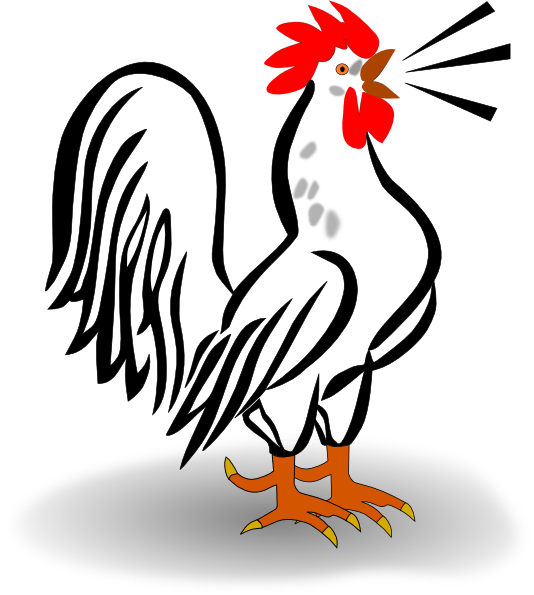 free clip art rooster - photo #1