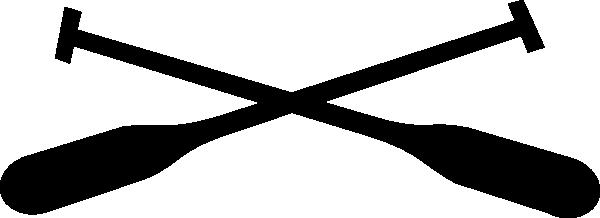 Rowing oars crossed tattoo