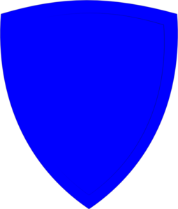 Shield, Blue Clip Art
