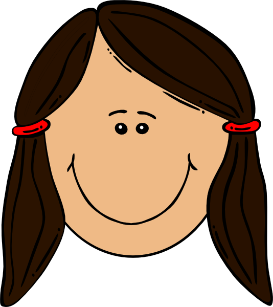 girl brown hair clip art at clkercom vector clip art
