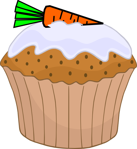 Carrot Cake Muffin Clip Art at Clker.com - vector clip art ...