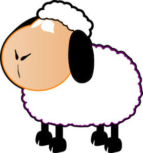 Black And White Sheep Clip Art