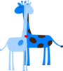 Boy Giraffe Baby Shower Clip Art